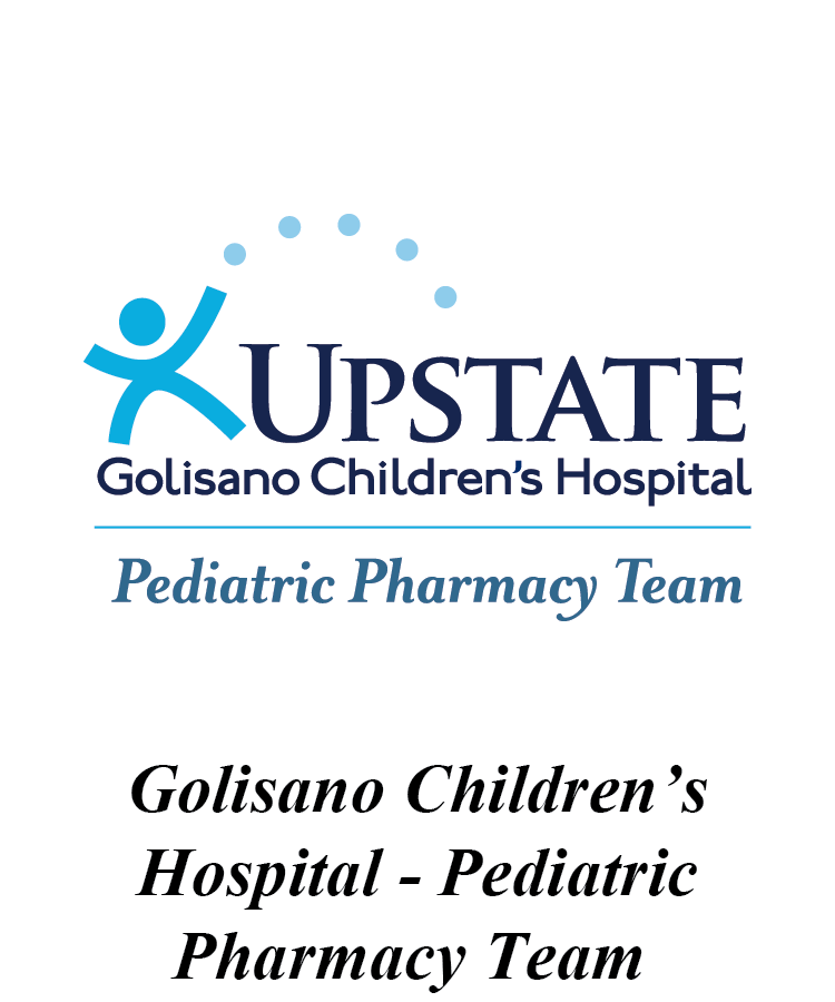 Upstate Golisano Children's Hospital Pediatric Pharmacy Team Logo