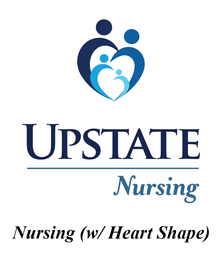 Upstate Nursing Logo with Heart Shape